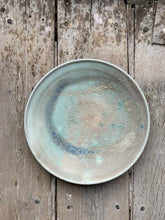 Load image into Gallery viewer, Plate, matt teal glaze
