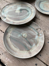 Load image into Gallery viewer, Plate, teal swirl glaze