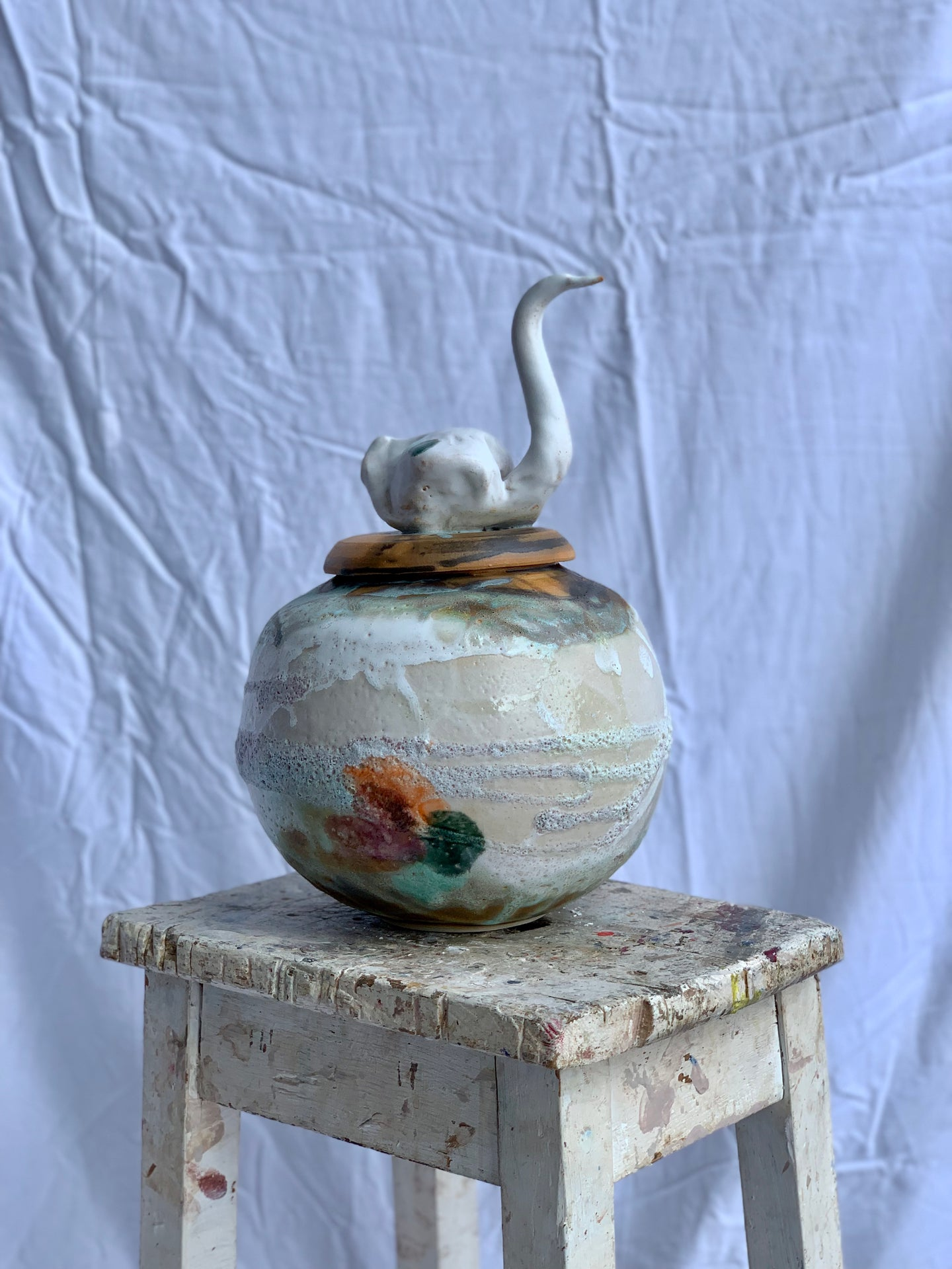 Fruitfully In Bloom - Swan Urn