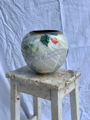Fruitfully In Bloom - Large Moon Jar