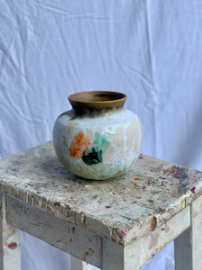 Fruitfully In Bloom- Small Moon Jar