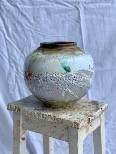 Fruitfully In Bloom- Medium Moon Jar