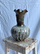 Load image into Gallery viewer, Nebula Reef- Volcanic Wiggly High Neck Vase