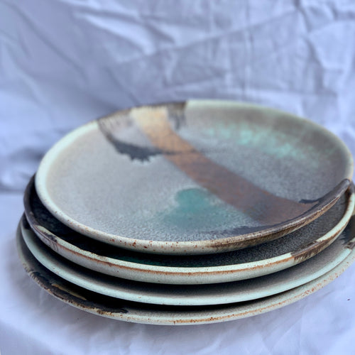 Enchanted Waterfall - set of 4 side Dish Plates