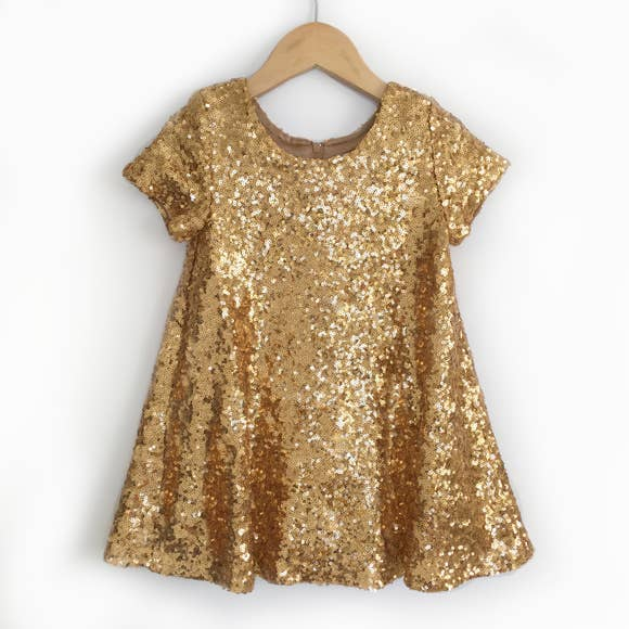 DRESS - GOLD SEQUINS