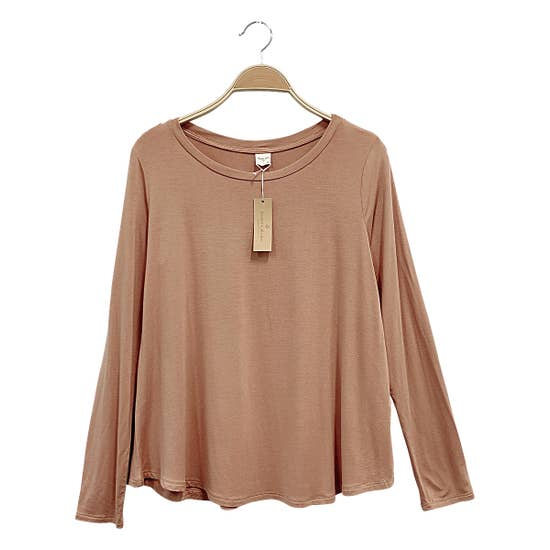 ADULT LONG SLEEVE TOP - CAMEL