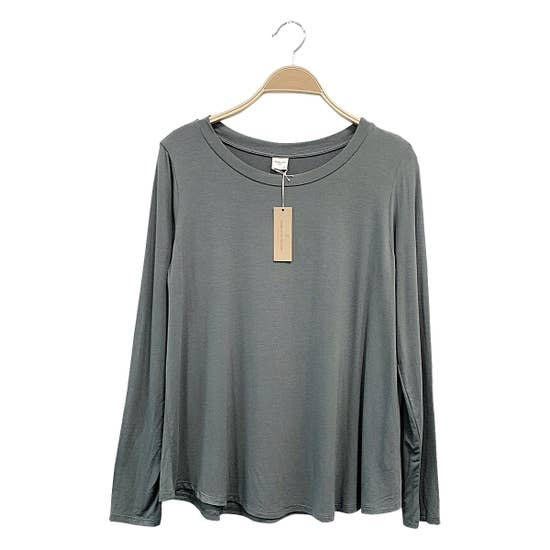 ADULT LONG SLEEVE TOP - GREY
