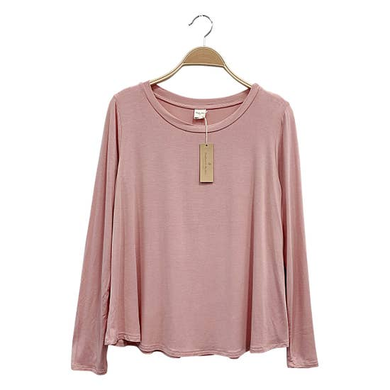 ADULT LONG SLEEVE TOP - MAUVE