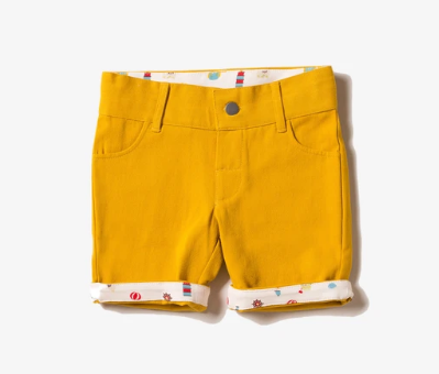 SHORTS - YELLOW DENIM