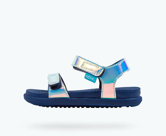 CHARLEY SANDAL - HOLOGRAPHIC BLUE