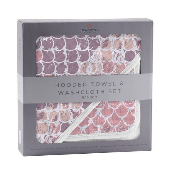 HOODED TOWEL SET - SCALES