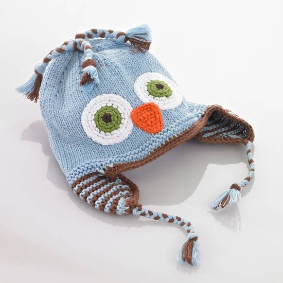 KNIT HAT - BLUE OWL