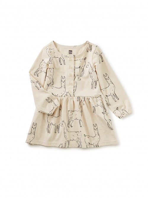 BUTTON DRESS - LLAMA LOVE