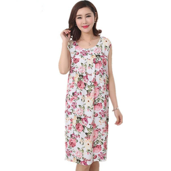 Women Sleeping Wear Cotton Nightgowns