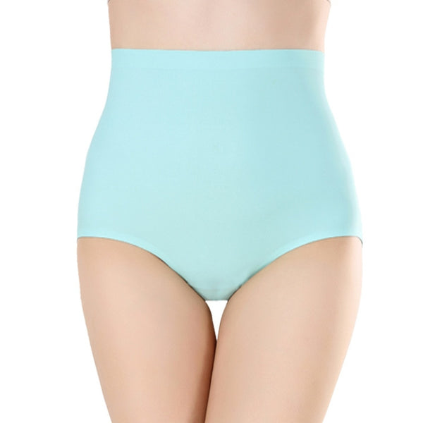 Women High Waist Seamless Solid Underwear