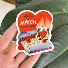 Load image into Gallery viewer, Let's Strike A Match Valentines Magnet