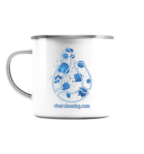 "Load image into Gallery viewer, ""River Cleaning"" Enamel cup - Emaille Tasse"