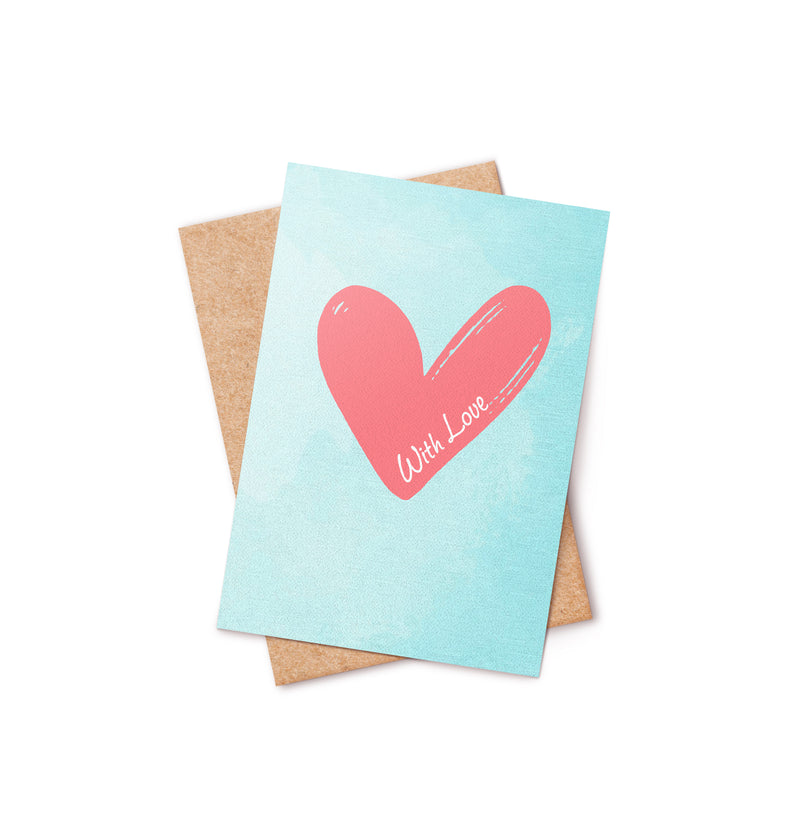 With Love Bath Bomb Card