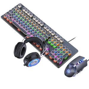 Ninja Dragons X1Z Mechanical Gaming Keyboard Mouse Set with Gaming Headphones