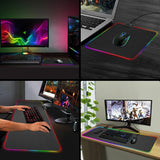 "Ninja Dragons RGB Gaming 1 Touch Light Up Mouse Pad 11.8"" x 31"""