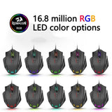 Ninja Dragons 12400 DPI 19 Buttons RGB LED Laser Wired Gaming Mouse