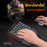 Ninja Dragons M86 Multicolor One Handed Professional Gaming Keyboard and Mouse Set
