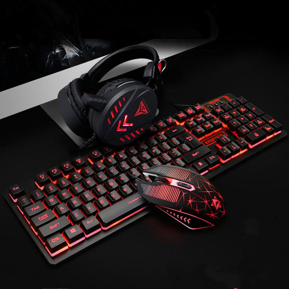 Dragon VX7 Waterproof Gaming Keyboard Set with Gaming Headset and Gaming Mouse