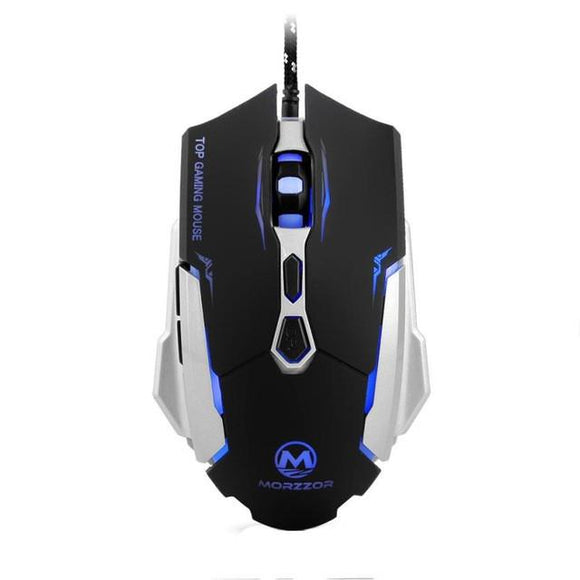 USB Wired 2400 DPI 7D Buttons LED Optical Gaming Mouse