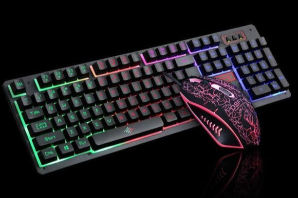 Ninja Dragons 104 Keys LED Flame Theme Gaming Keyboard with 2000DPI Mouse