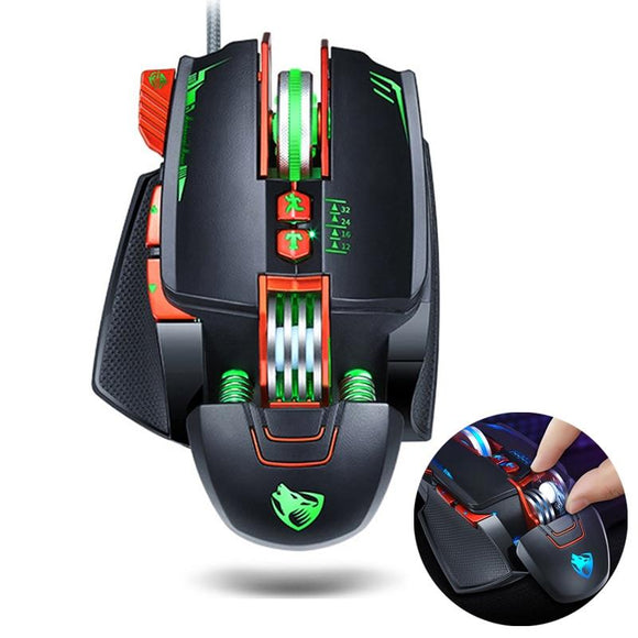 Dragon V9 8 Buttons DPI Adjustable LED PRO Gaming Mouse