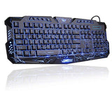 Thunder Fire 2.4G Gaming Keyboard and Mouse Set with FREE Bluetooth Earbuds
