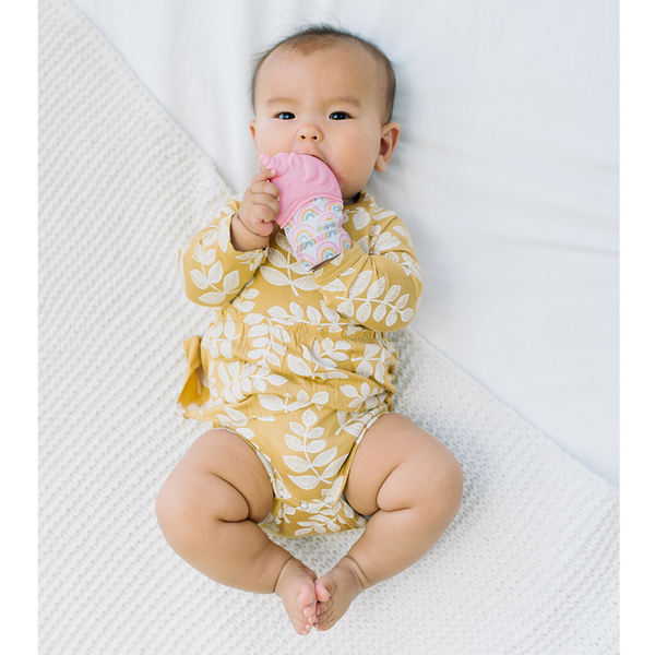 Itzy Mitt™ Silicone Teething Mitts- Unicorn - Bluebonnet Beautique