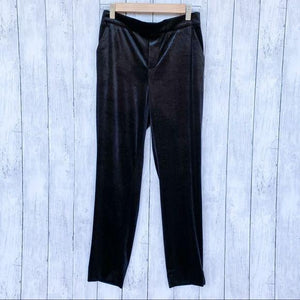 Banana Republic Hayden Velvet Pull On Pants Black- Size 0