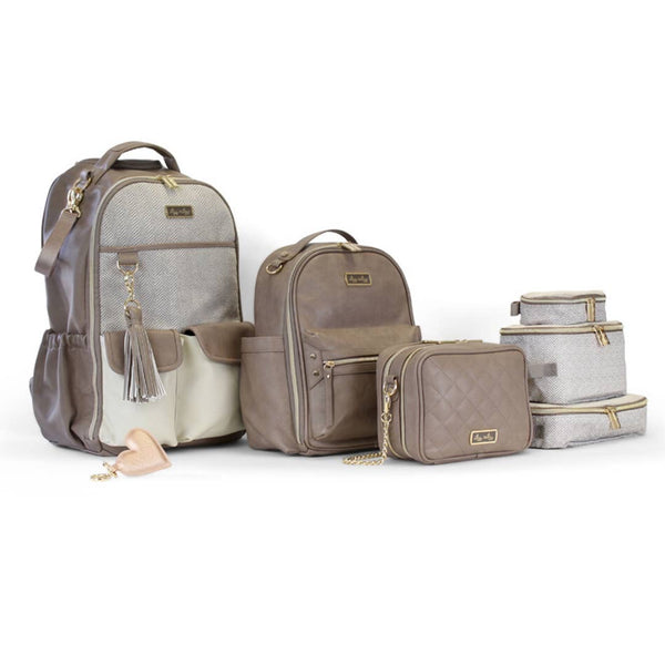 Taupe Double Take™ Crossbody Diaper Bag - Bluebonnet Beautique
