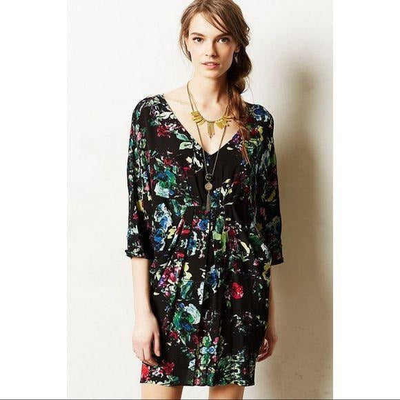Anthropologie Petal Palette Floral Tunic Dress- Size Small