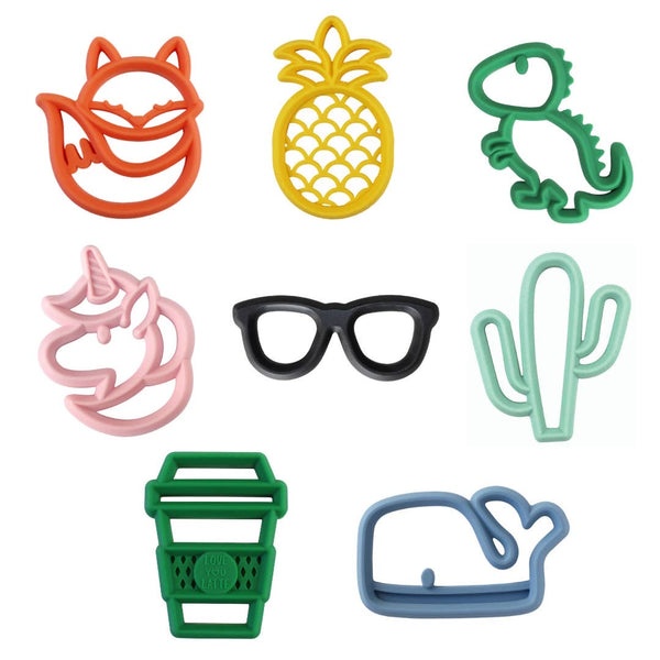 Fox Chew Crew™ Silicone Baby Teethers - Bluebonnet Beautique