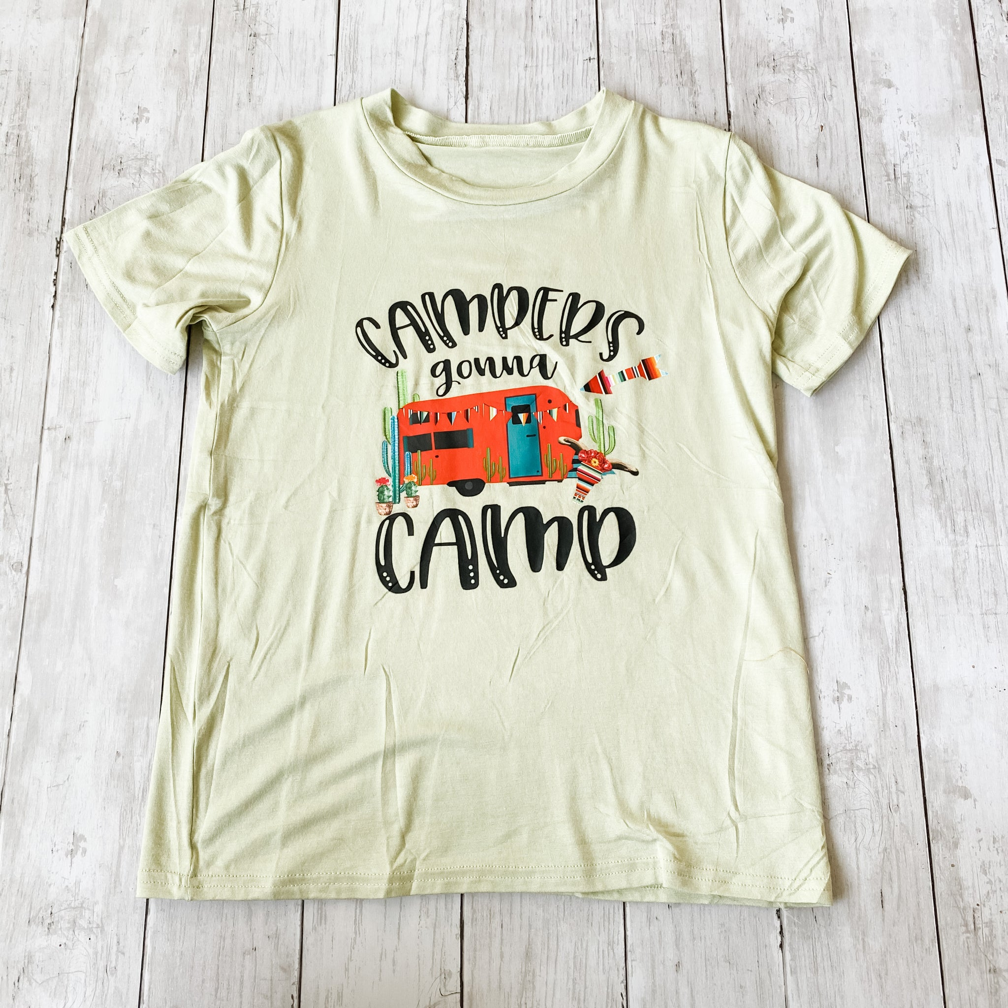 Campers Gonna Camp Tee- 7-8T - Bluebonnet Beautique