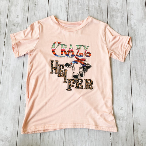 Crazy Heifer Tee- Multiple Sizes - Bluebonnet Beautique