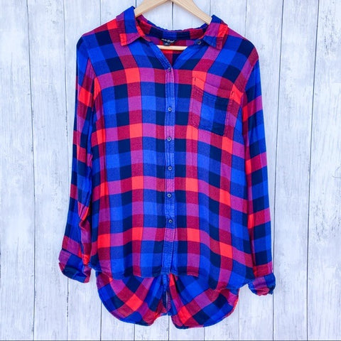 Lucky Brand Plaid Button Down Flannel- Size Medium