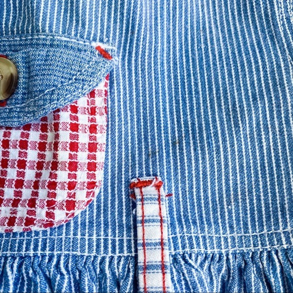 Vintage Girls Striped Plaid 2 Piece Set- 18M - Bluebonnet Beautique