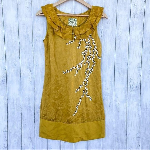 Anthropologie Floreat Catkins Dress- Size 2