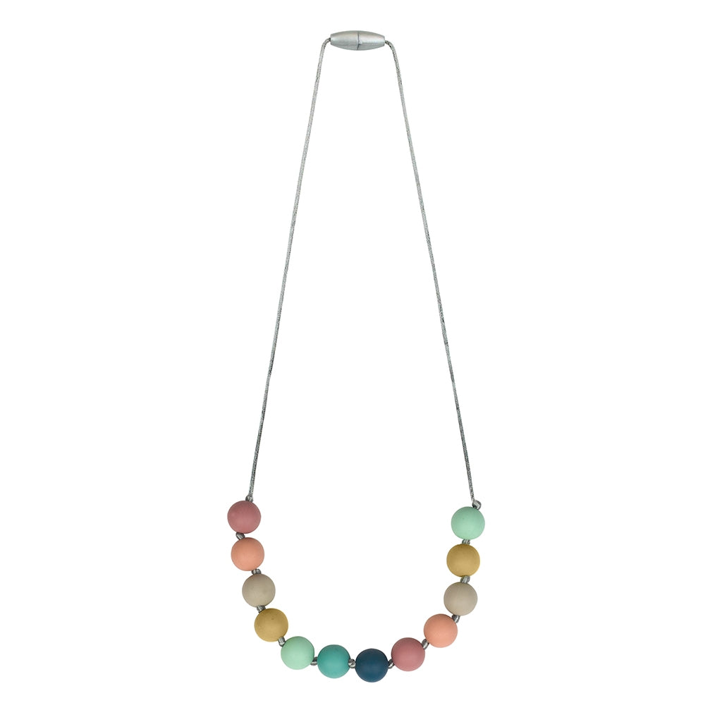 Teething Necklaces- Chewable Mom Jewelry Rainbow - Bluebonnet Beautique
