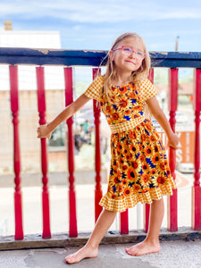 Sunflower Dress- 2XL 6-7Y