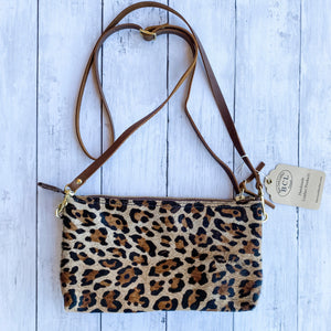 Bear Creek Leather Tiffany Crossbody- Leopard