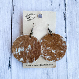 Bear Creek Leather Earrings- Longhorn