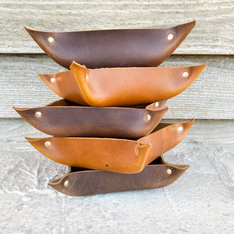 Bear Creek Leather Catch All Tray