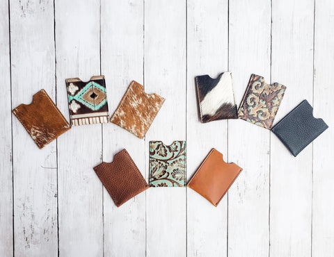 Bear Creek Leather Card Holders