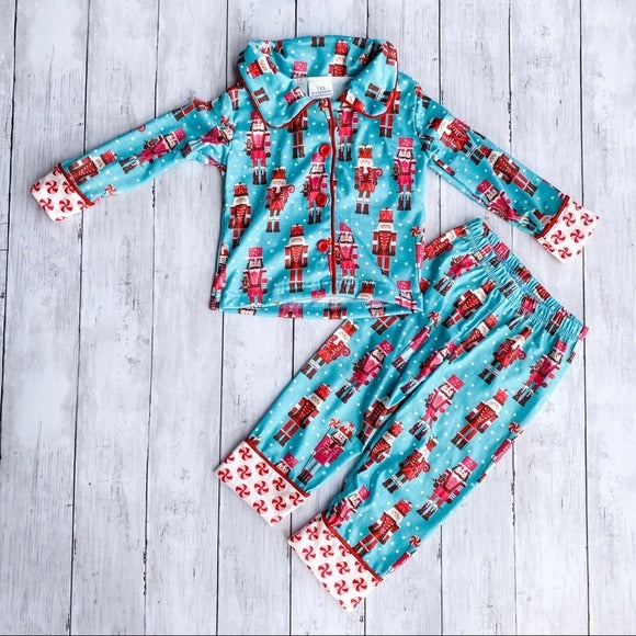 Nutcracker Christmas Two Piece Pajama Set- XS 6-12M