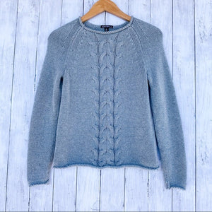 J. Crew Cable Knit Roll Neck Sweater- Size X-Small - Bluebonnet Beautique