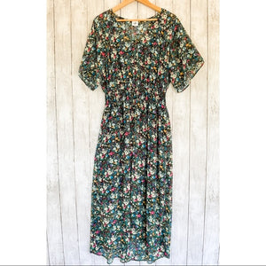 Cabi Fiesta Floral Maxi Dress- Size Small - Bluebonnet Beautique